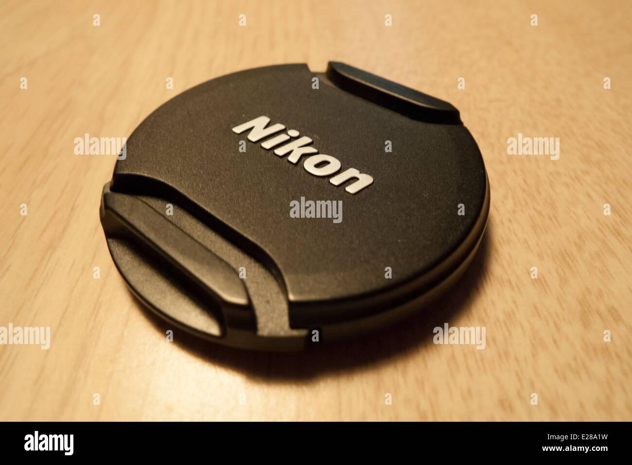 Nikon lens cap. - Stock Image