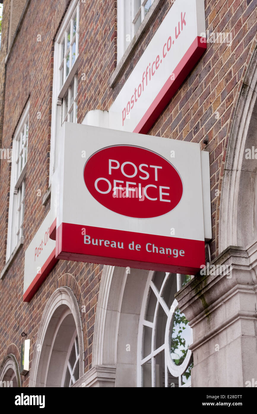 Post Office shop front sign - Stock Image