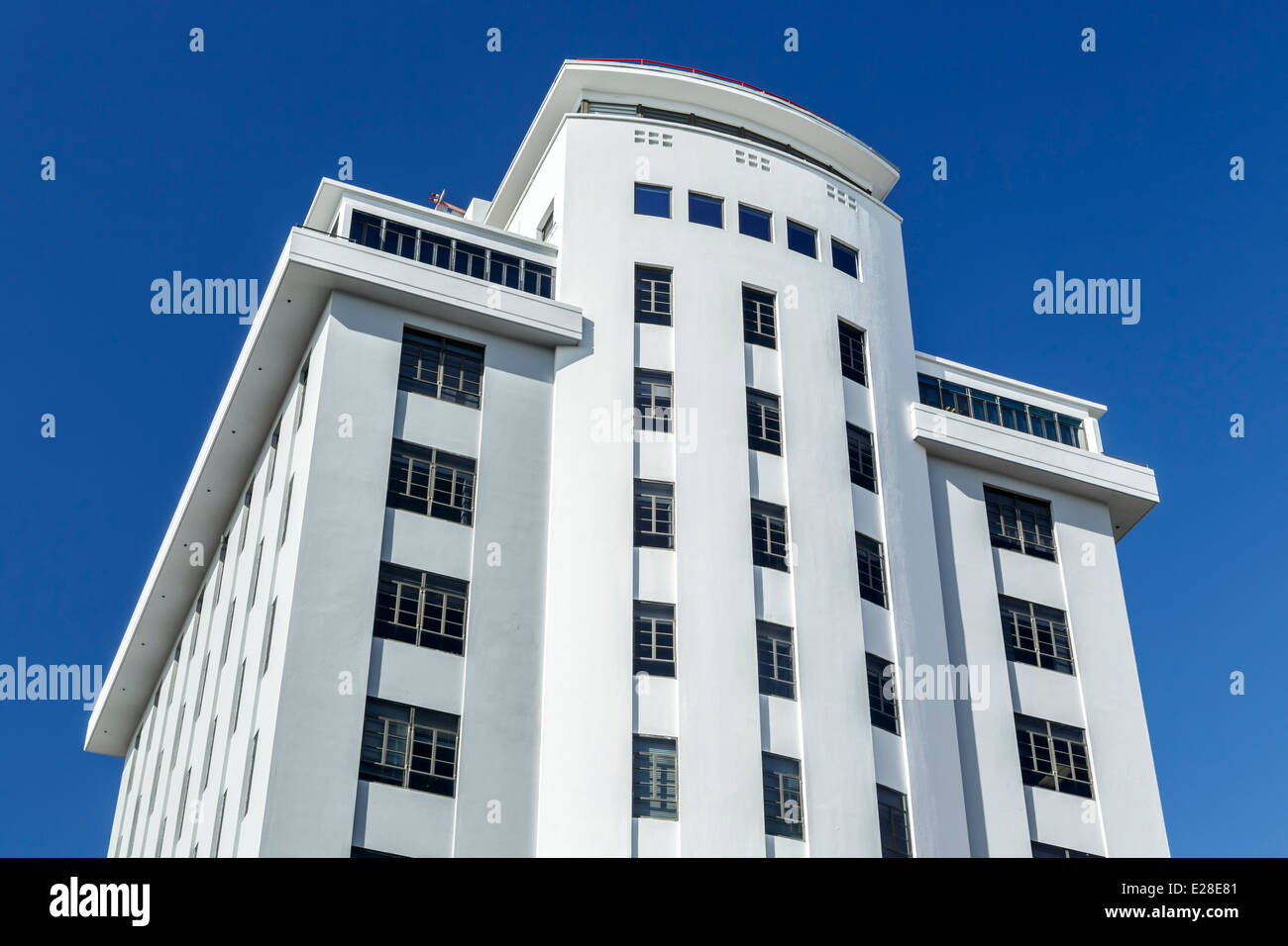 Banco Popular Building, Old San Juan, Puerto Rico - Stock Image