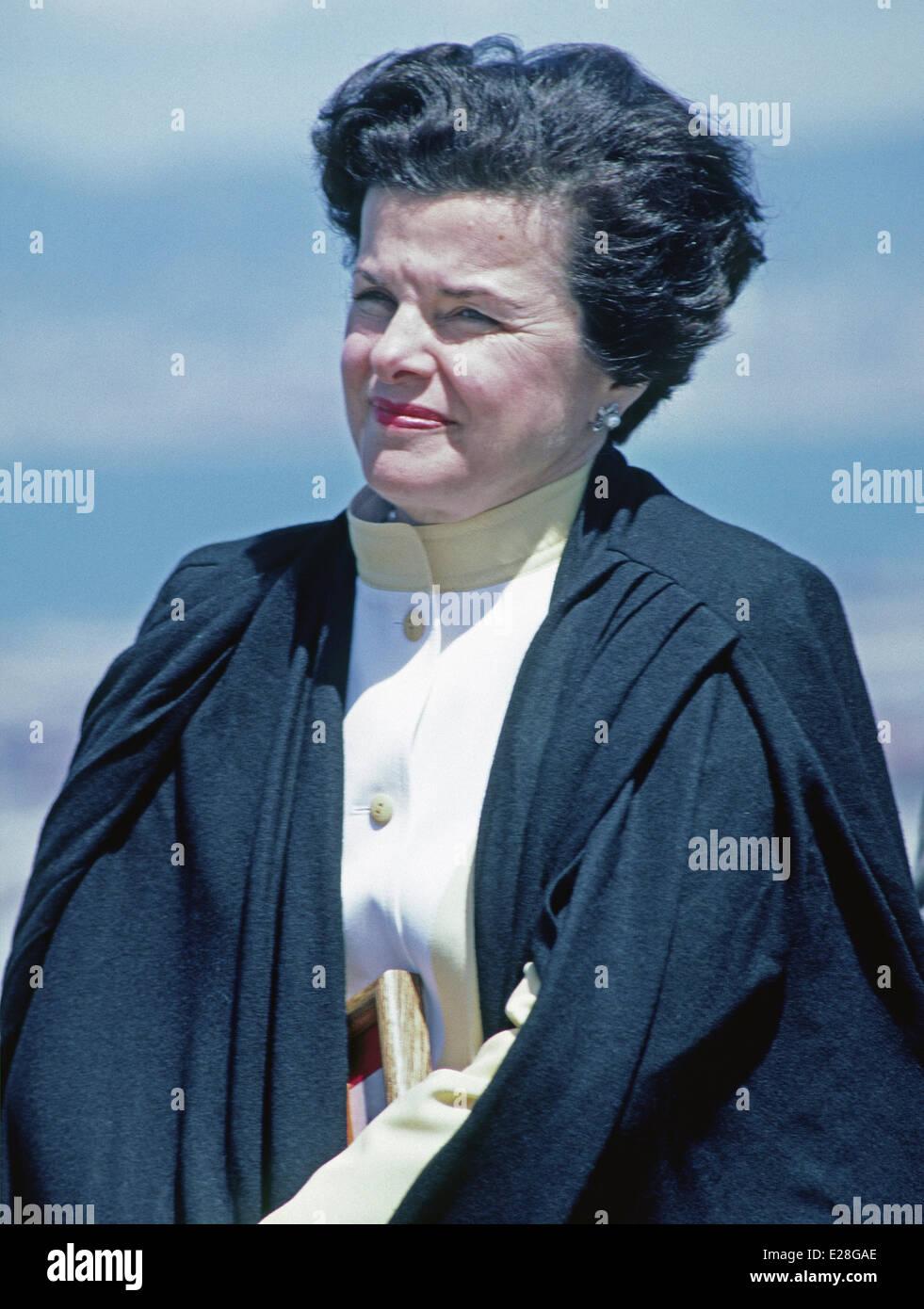 San Francisco Mayor Dianne Feinstein - Stock Image