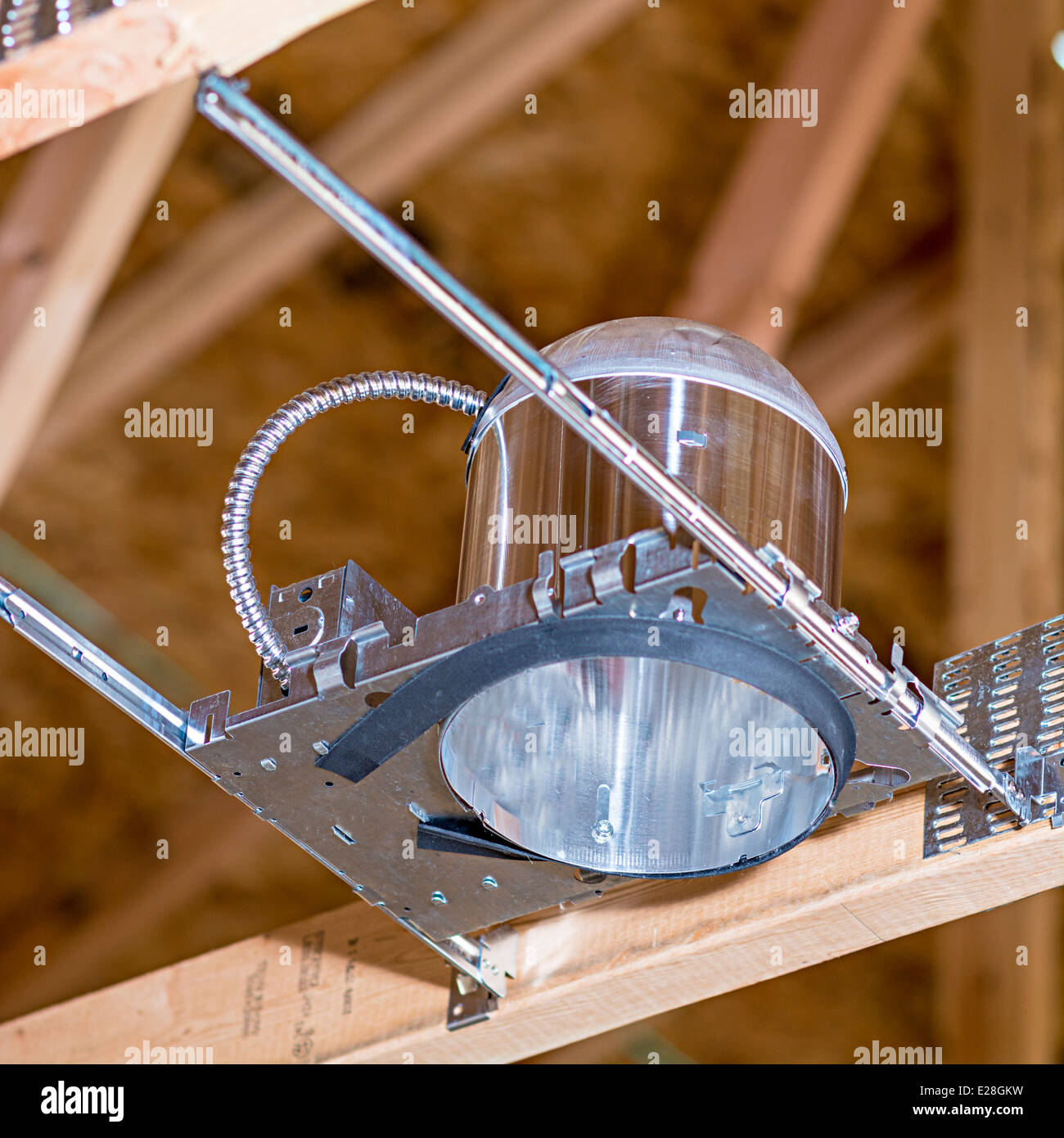 Can Lighting Fixture In New Construction Stock Photo 70259501 Alamy