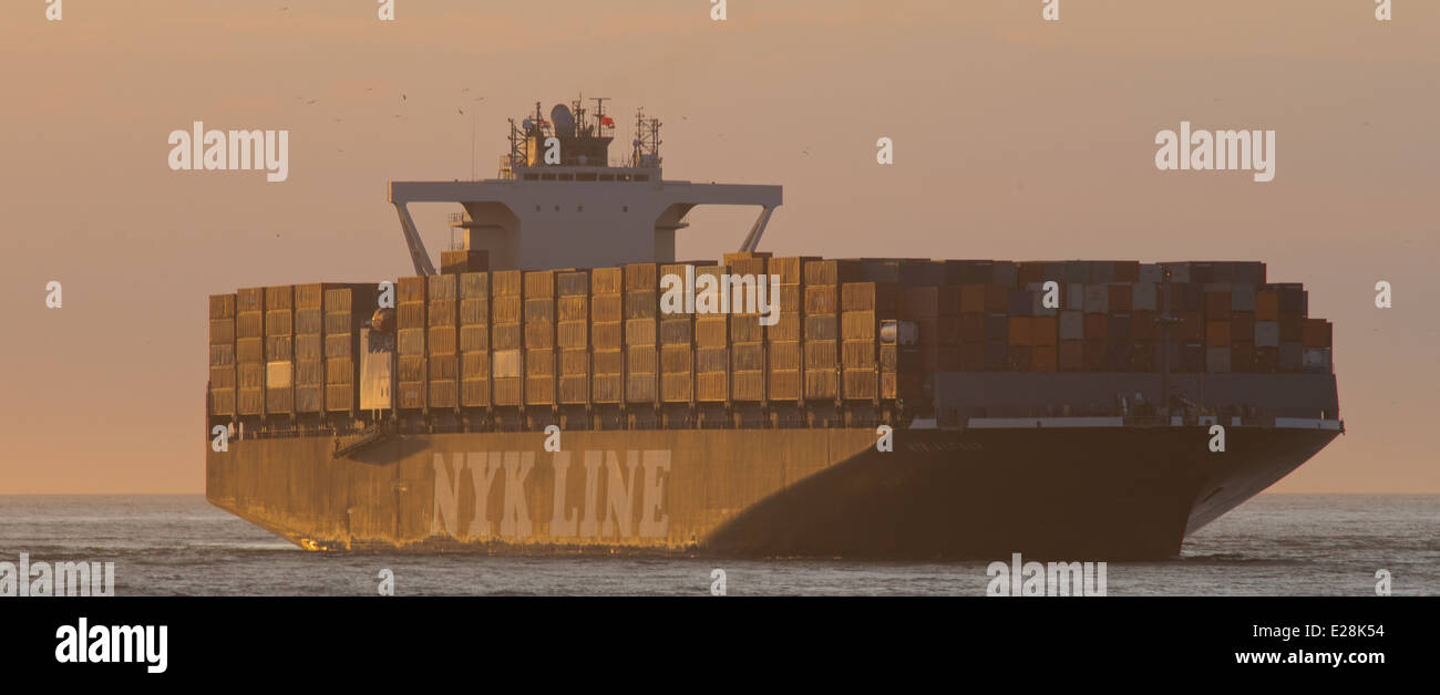 'NYK Altair' arrives at Rotterdam - Stock Image