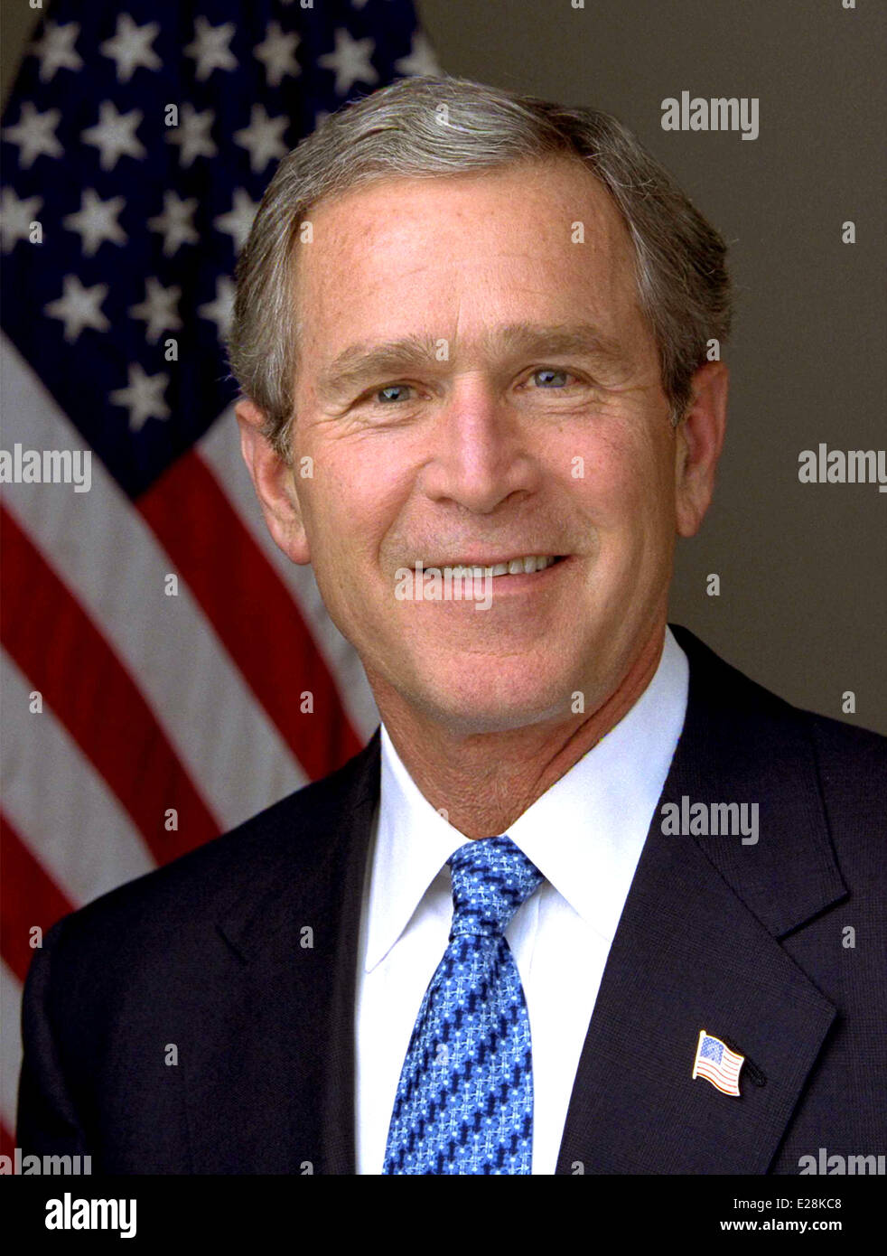 President George W. Bush, 43rd President of the United States Stock Photo
