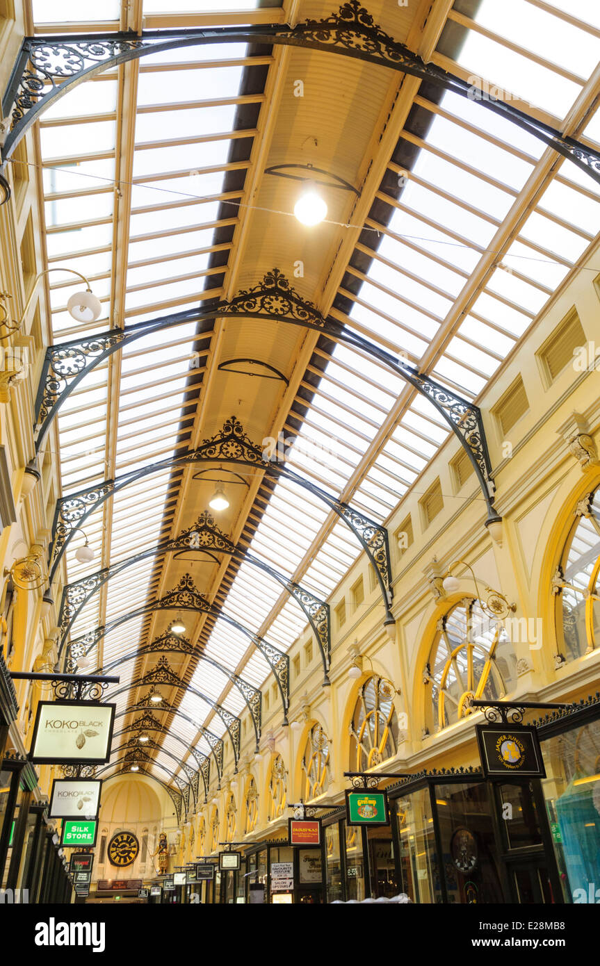 Melbourne Royal Arcade Victorian ceiling - Stock Image