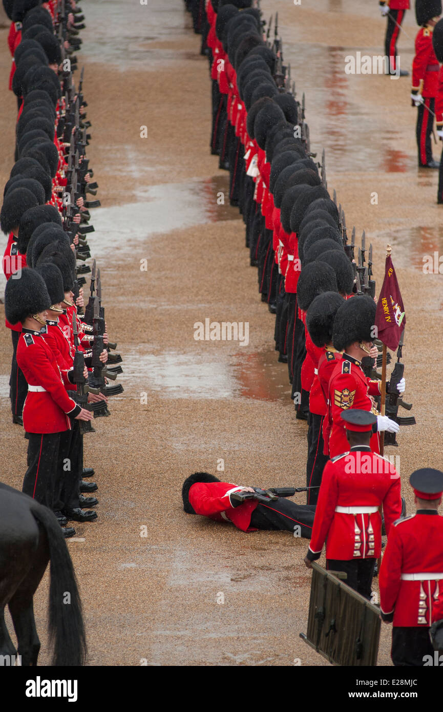 Soldier faints during the Colonel's Review at the final