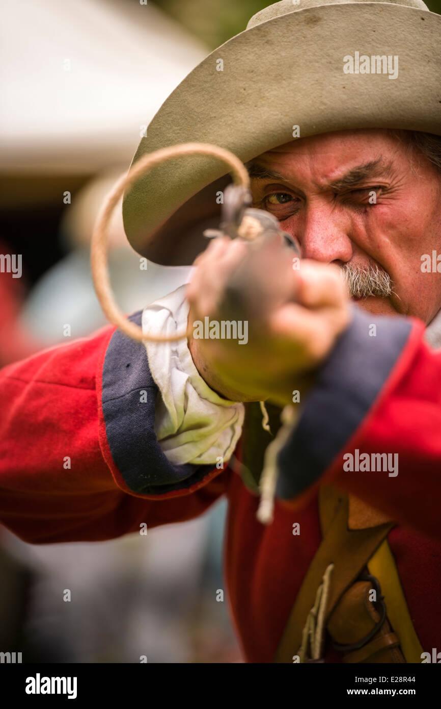 English Civil War - Re-enactment - Stock Image