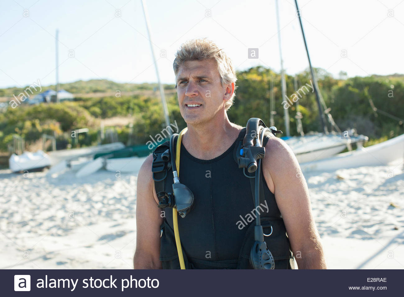 Man in scuba gear - Stock Image