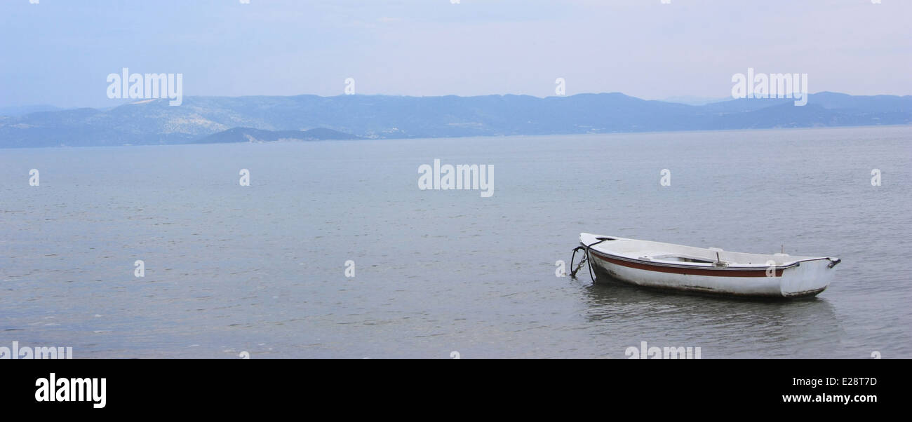 Boat in Ionian sea - Stock Image