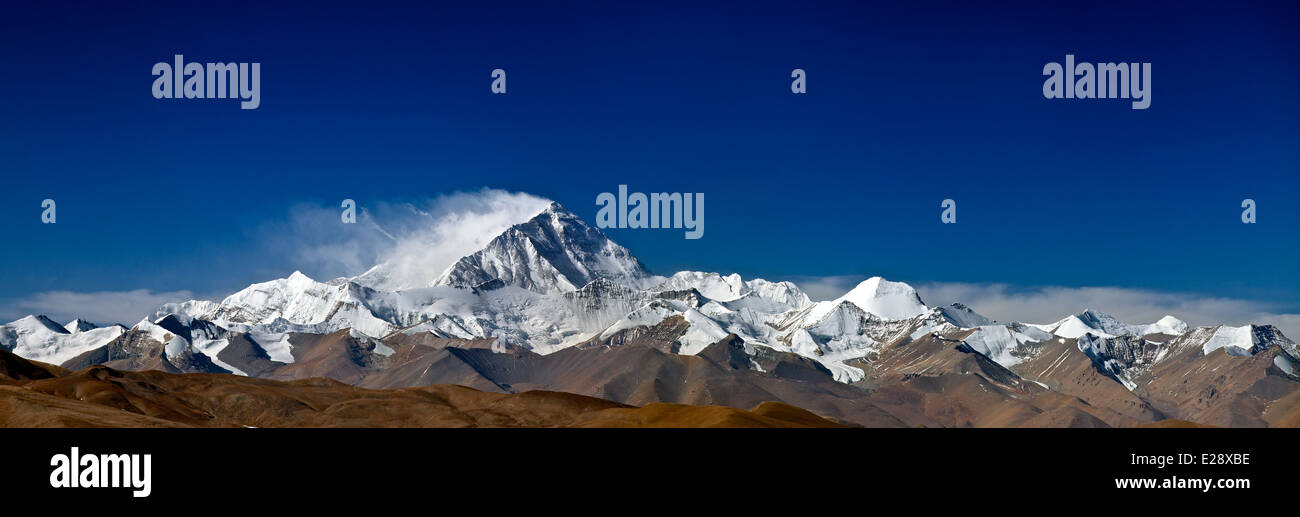 Mount everest in tibet - Stock Image