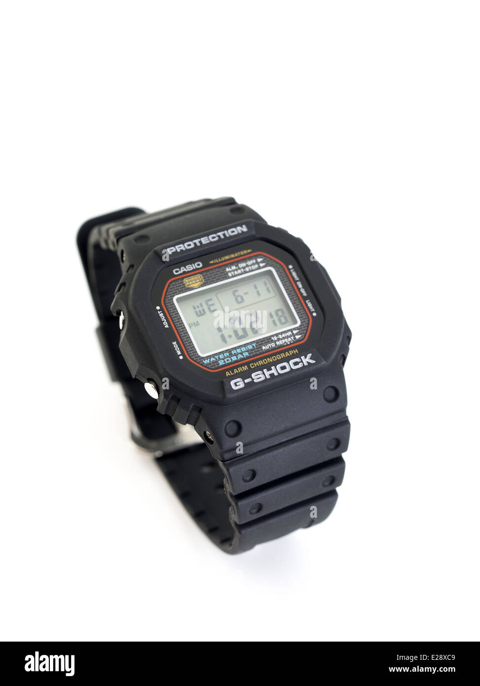 CASIO G-SHOCK DW-5000C digital watch first released in 1983 - Stock Image