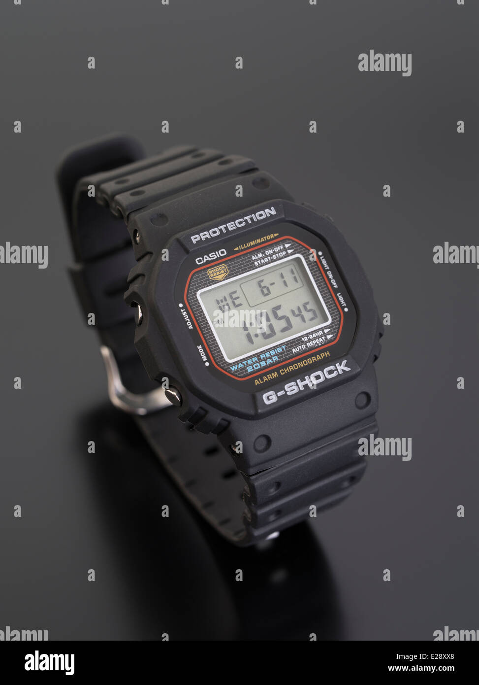 timeless design 95919 727c7 CASIO G-SHOCK DW-5000C digital watch first released in 1983 ...