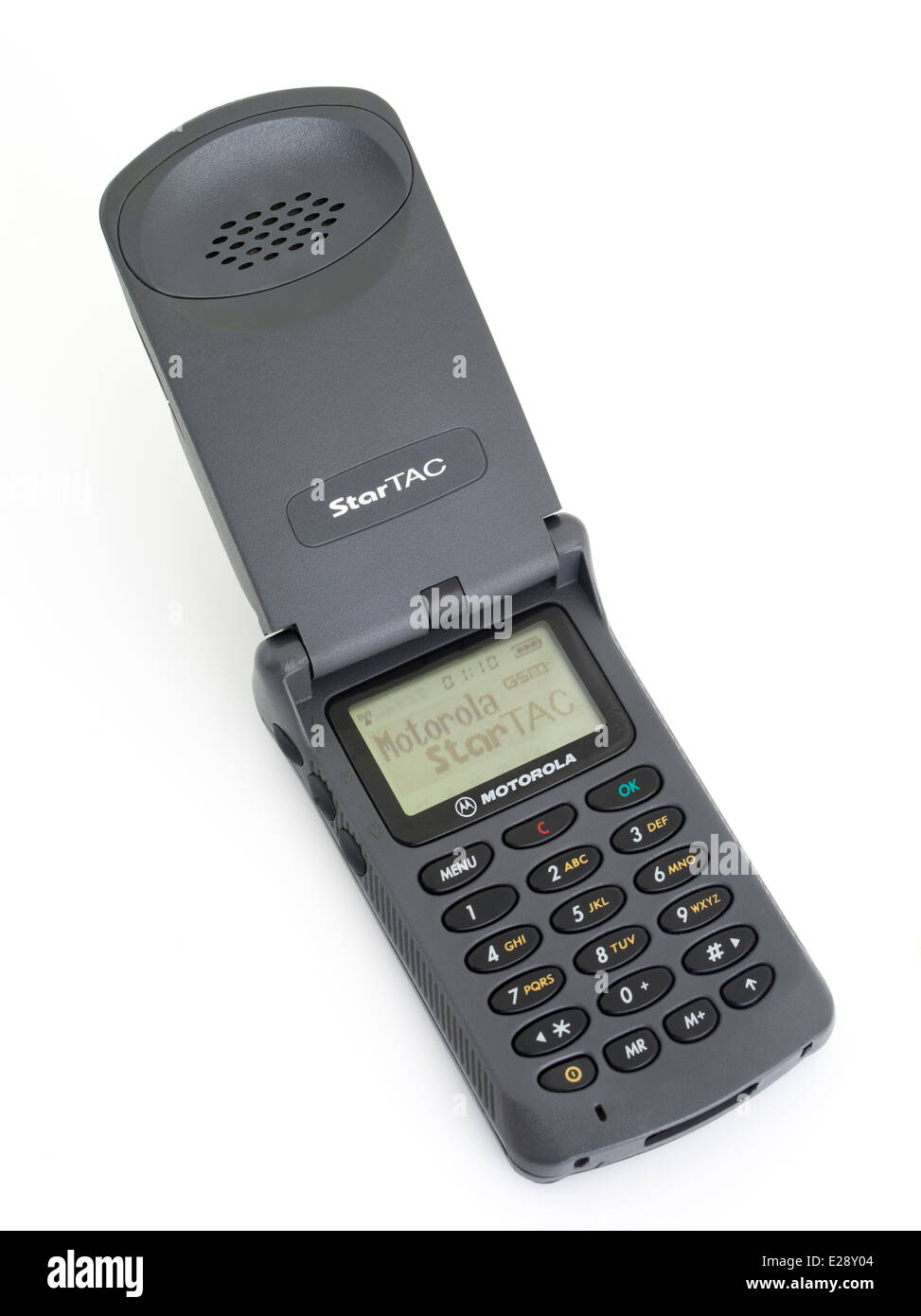 Motorola StarTAC star tac 85. First Clamshell / flip mobile phone released 1996 - Stock Image