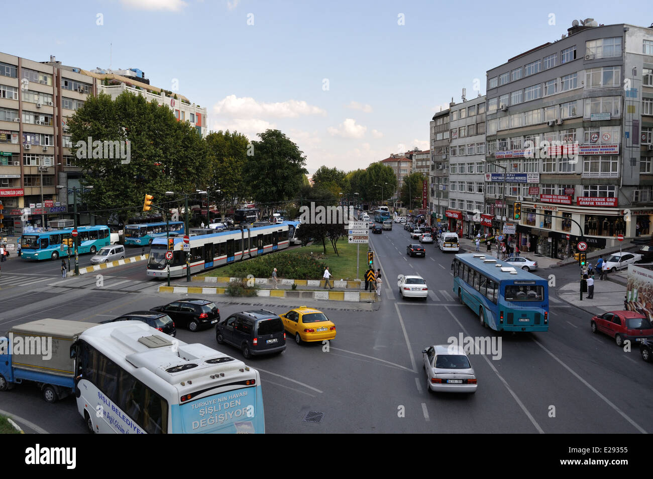 Busy street,near Haseki station,Istanbul,Turkey - Stock Image