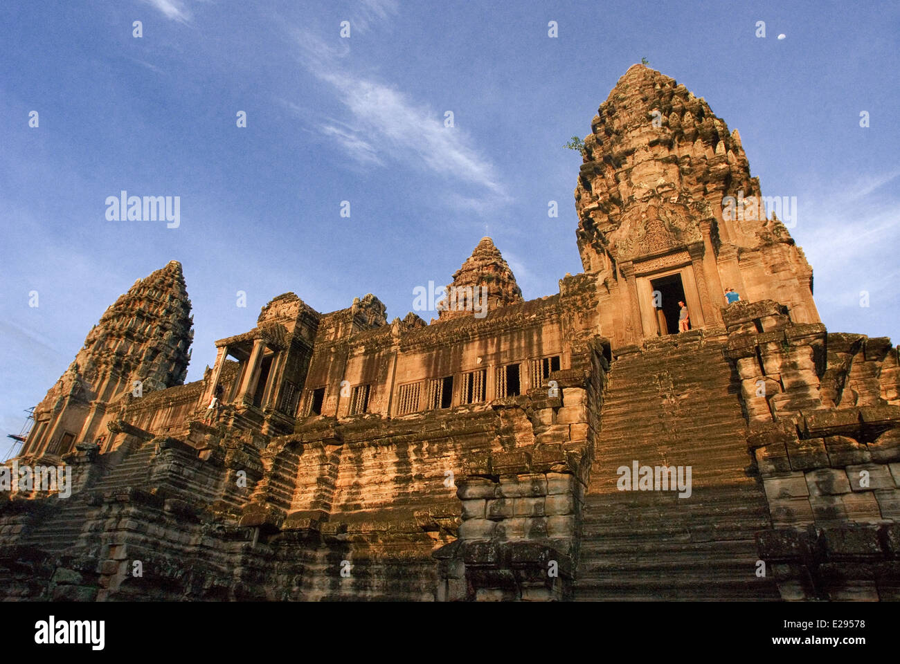 Rear of Angkor Wat. Angkor in Cambodia. The temples of Angkor, built by the Khmer civilization between 802 and 1220 - Stock Image