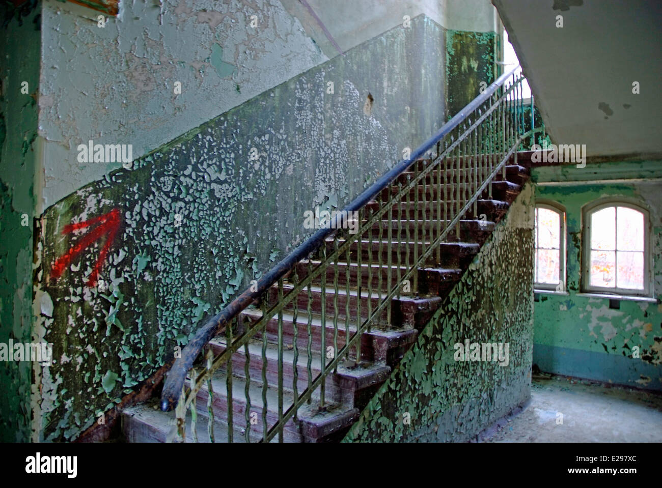 Staircase to the first floor - Stock Image