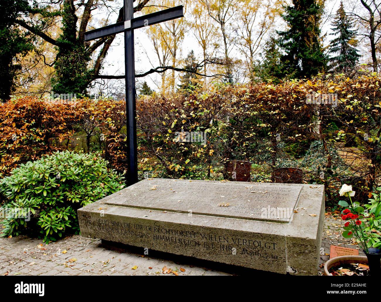 Gedenkstätte für Opfer des Nationalsozialismus in Berlin, Dorotheenstaedtischer Friedhof, Memorial for victims of Stock Photo
