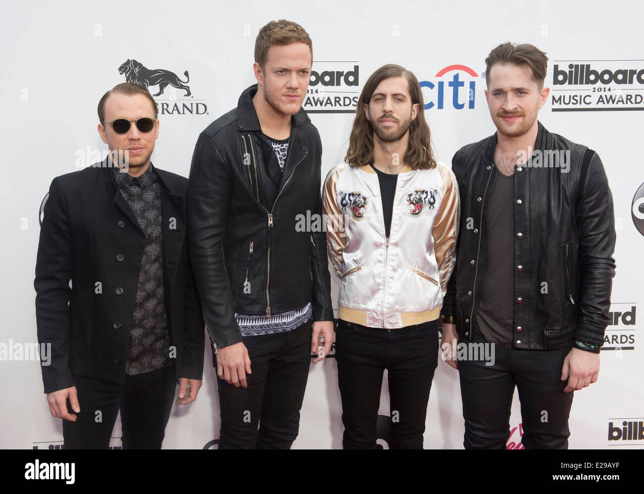 Rock band Imagine Dragons attend the 2014 Billboard Music Awards in Las Vegas - Stock Image
