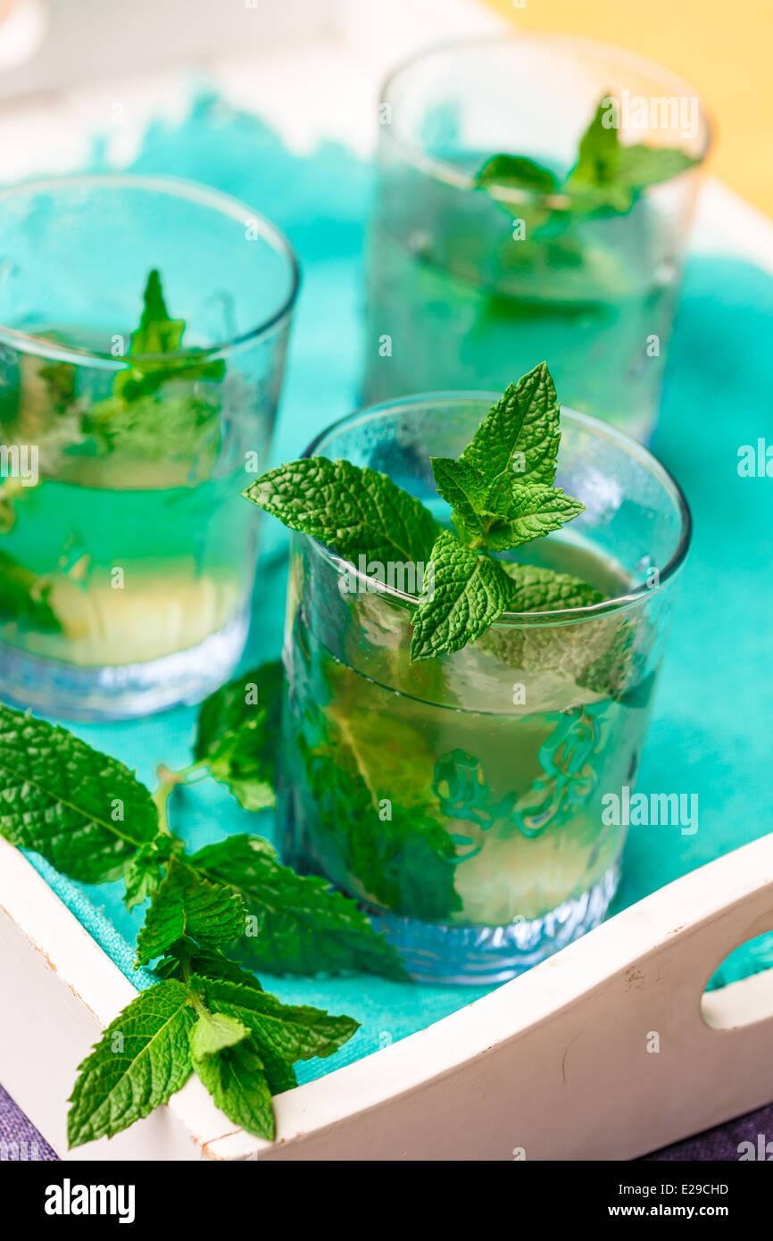 Fresh peppermint tea - Stock Image