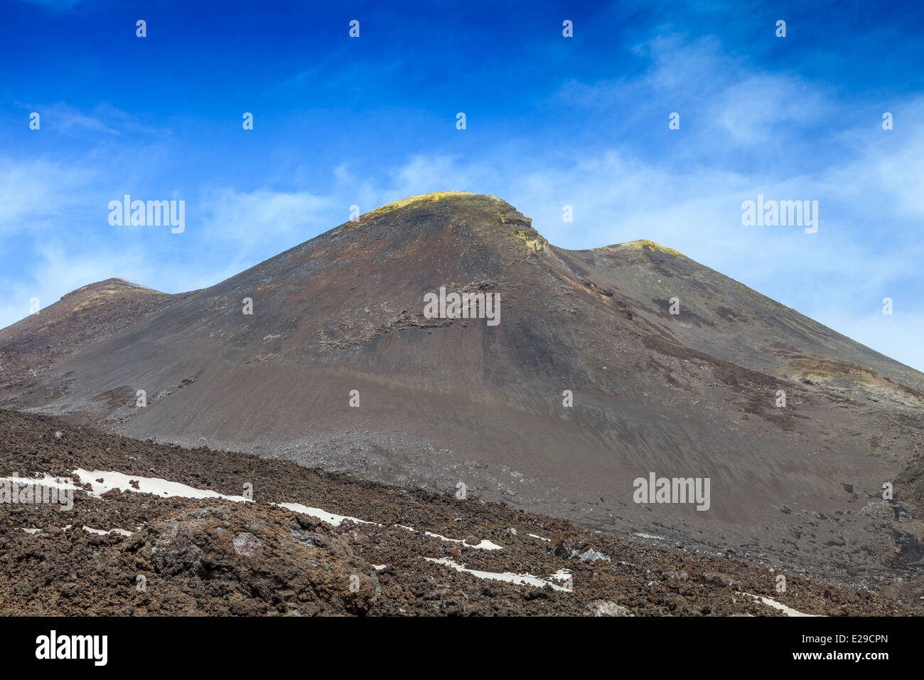 View of mount Etna summit - Stock Image