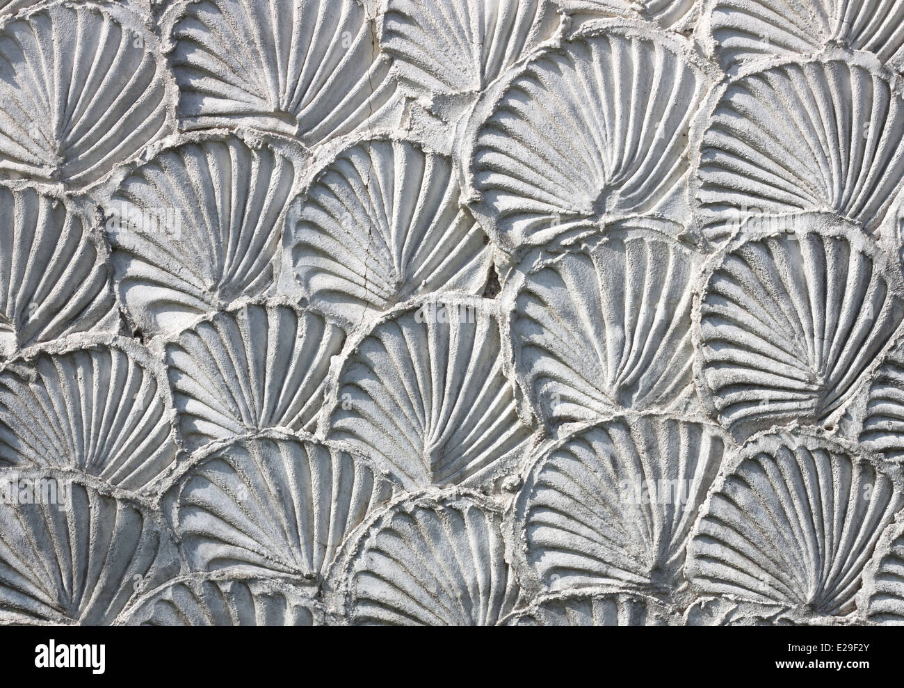 White mortar wall texture background aesthetic. - Stock Image