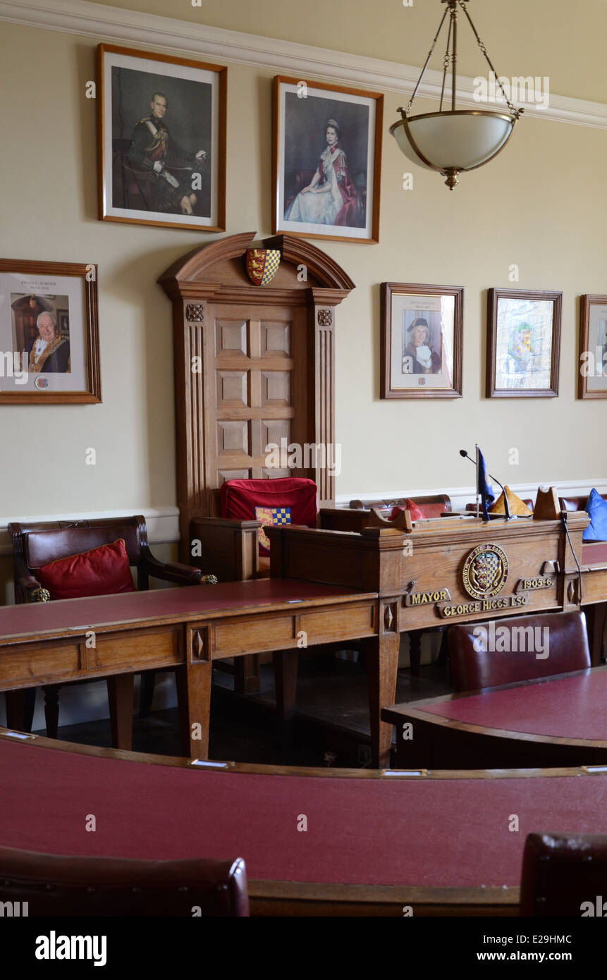 Courtroom, Stamford Town Hall - Stock Image