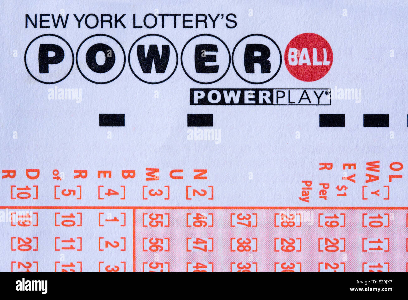 how to read powerball ticket