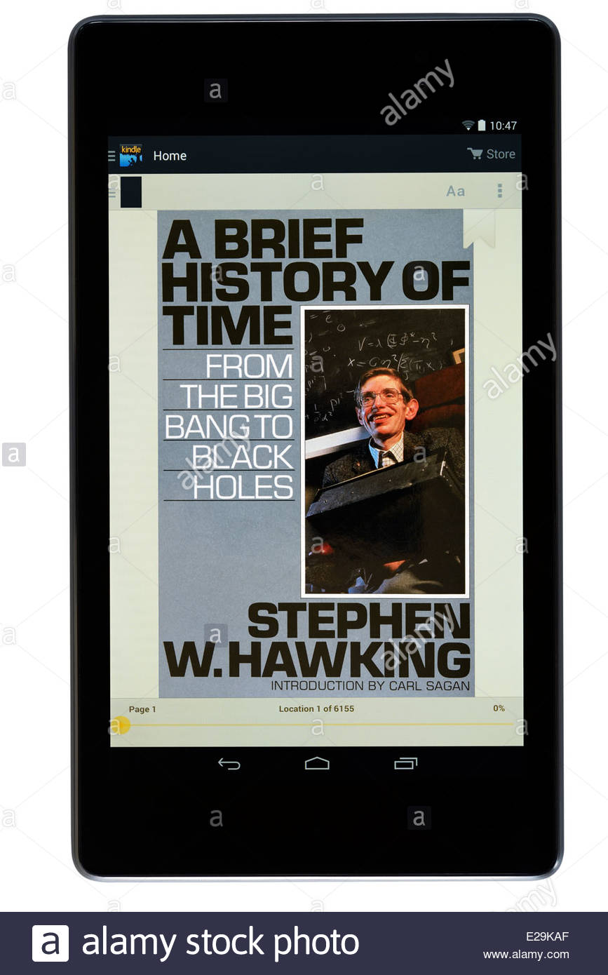 Stephen Hawking Book Title A Brief History Of Time Digital