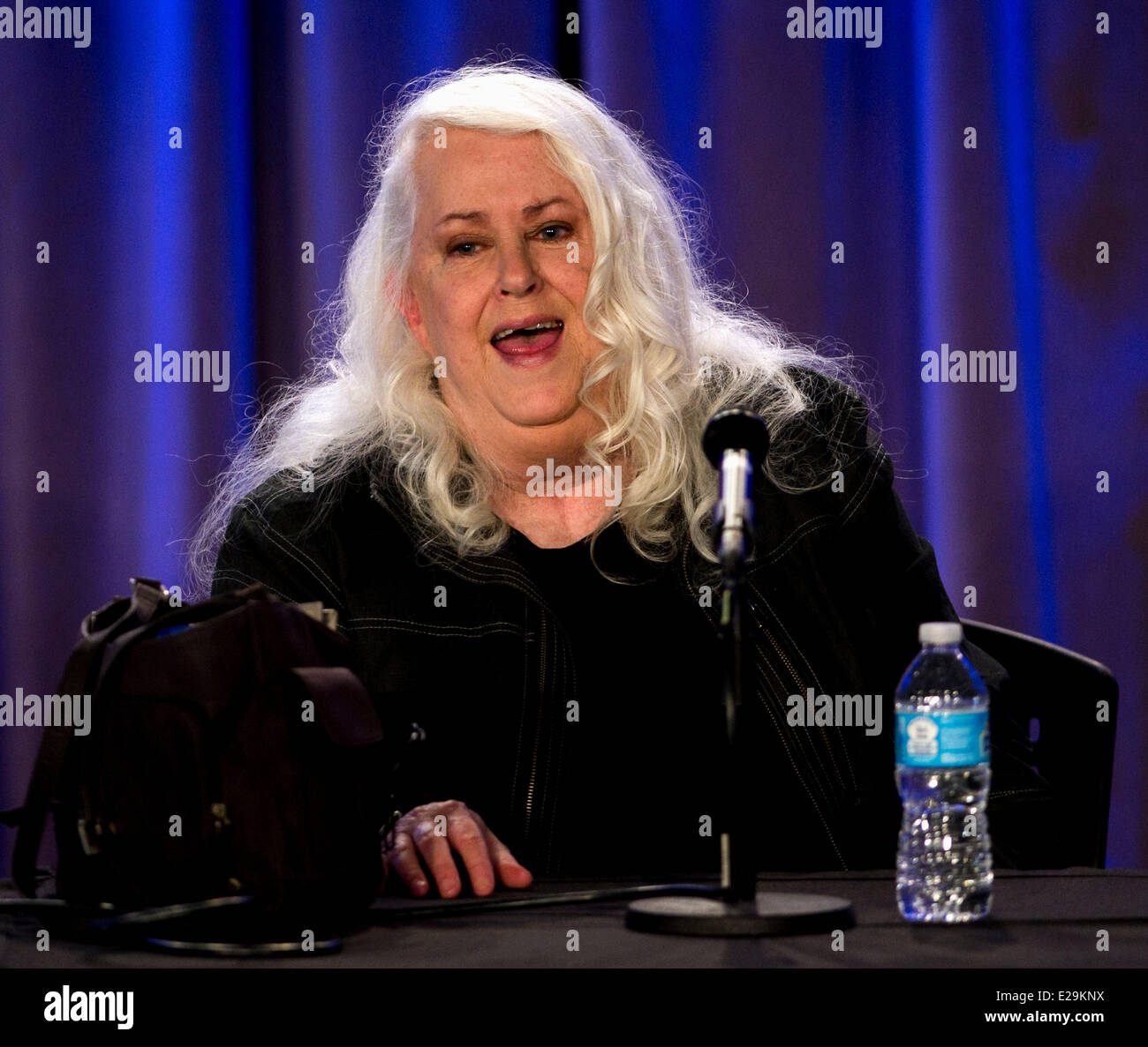 Los Angeles, California, USA. 17th June, 2014. Jefferson Airplane singer GRACE SLICK discusses her career in music - Stock Image