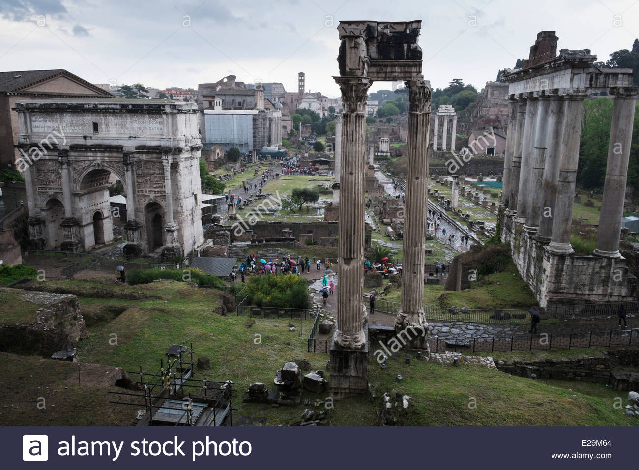 Foro Romano, Roma, Italy - Stock Image
