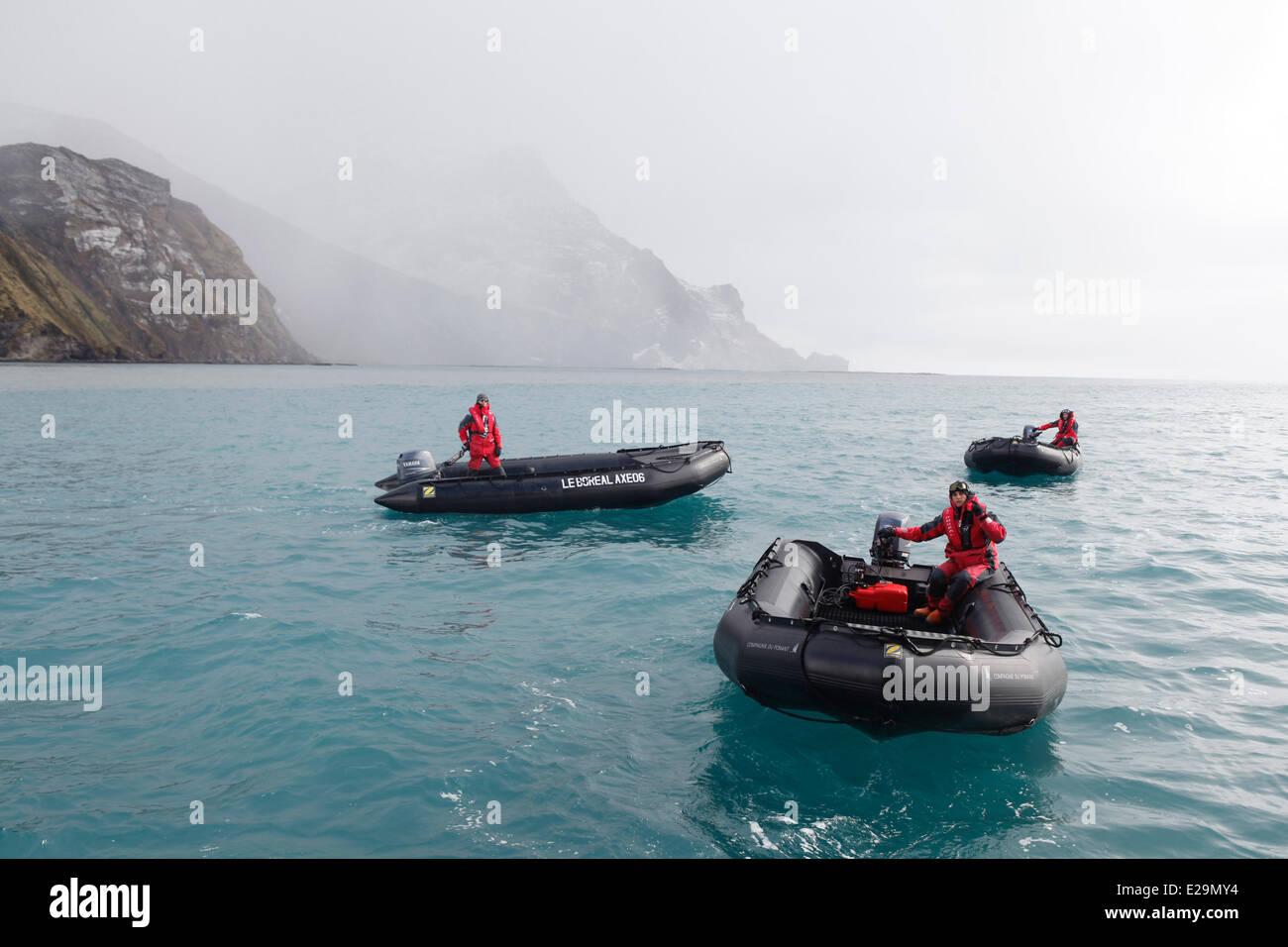 Antarctica, cruise on Boreal ship, South Georgia Island - Stock Image