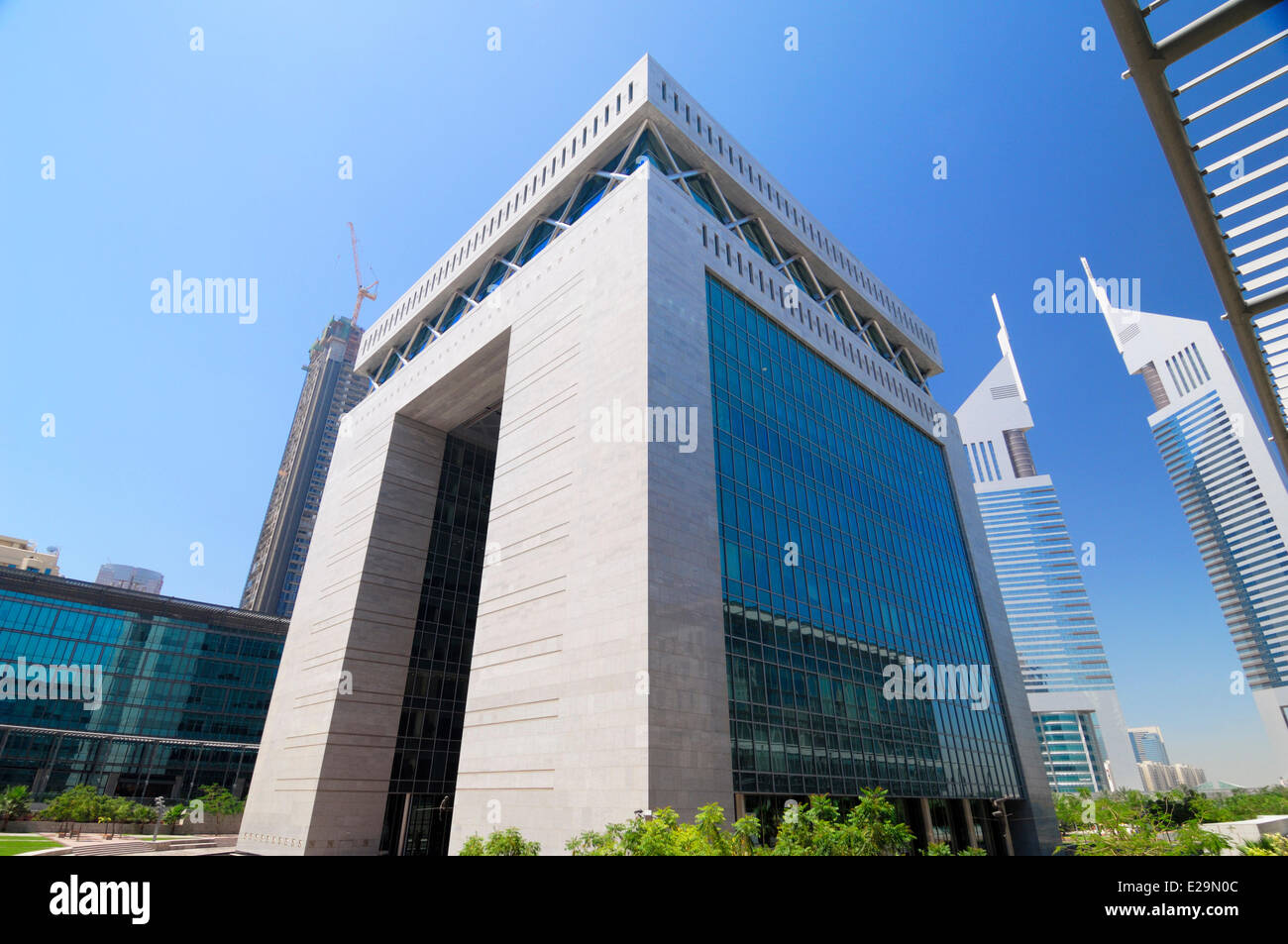 United Arab Emirates, Dubai emirate, Dubai's World Trade Center business district, The Gate Building by Gensler - Stock Image