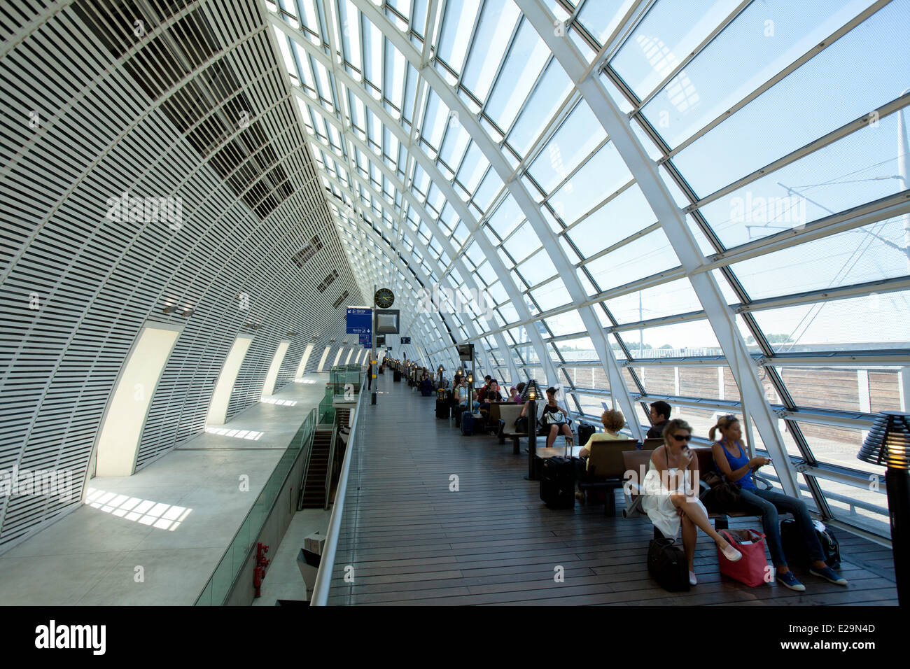 France Vaucluse Avignon Tgv Train Station By Architects Jean Marie Stock Photo Alamy