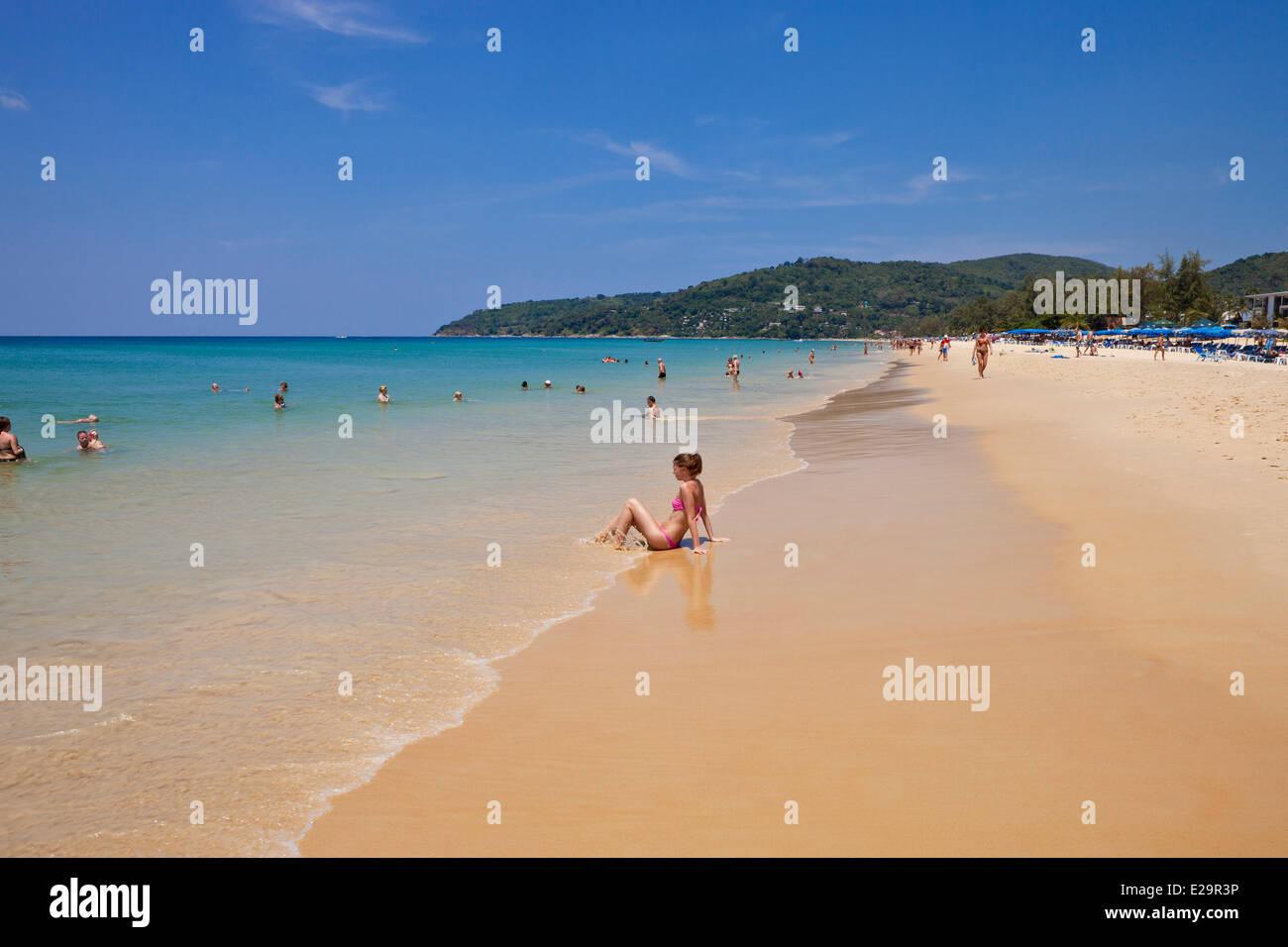 Thailand, Phuket Province, Phuket, the beach of Karon - Stock Image