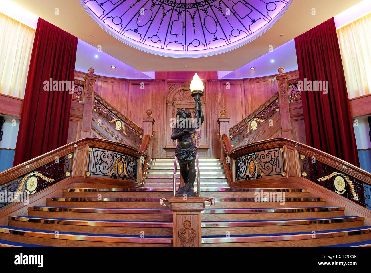 United Kingdom, Northern Ireland, Belfast, docks district of Queen's Island, the Titanic Belfast Experience - Stock Image