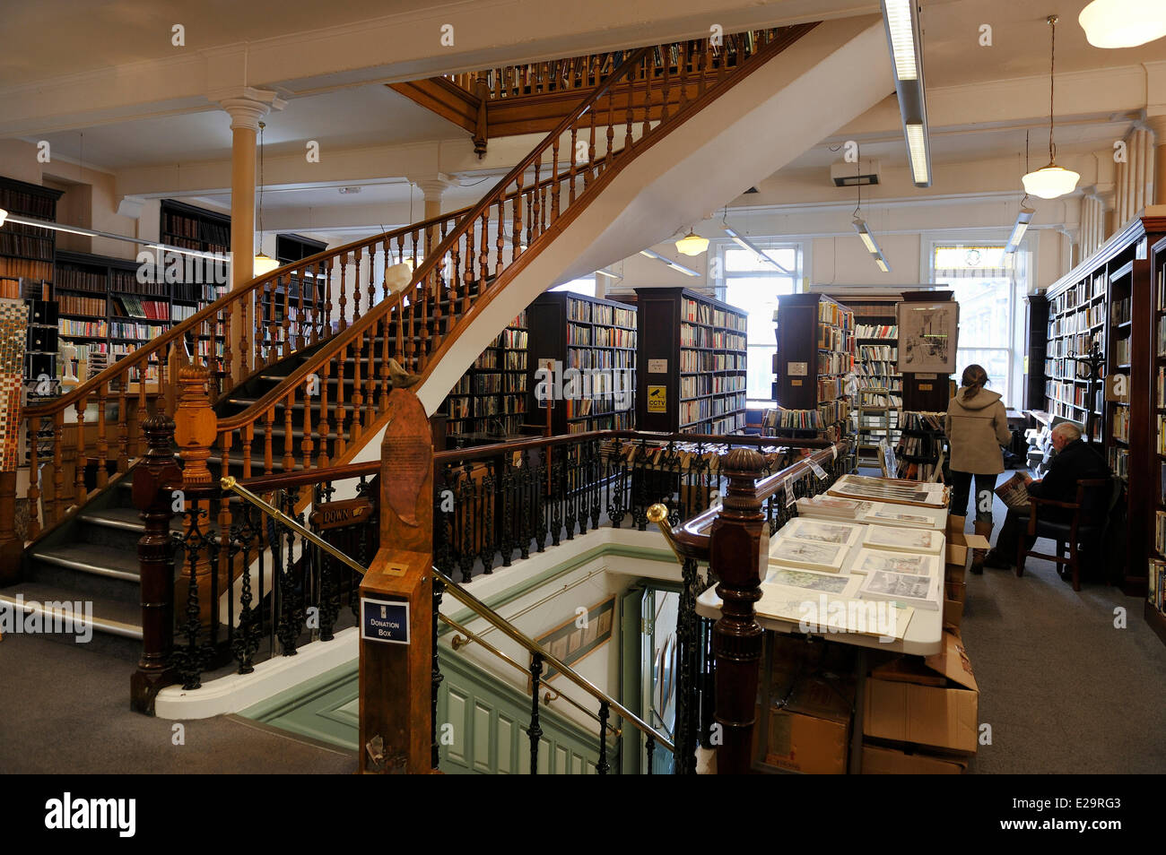 United Kingdom, Northern Ireland, Belfast, Linen Hall Library - Stock Image