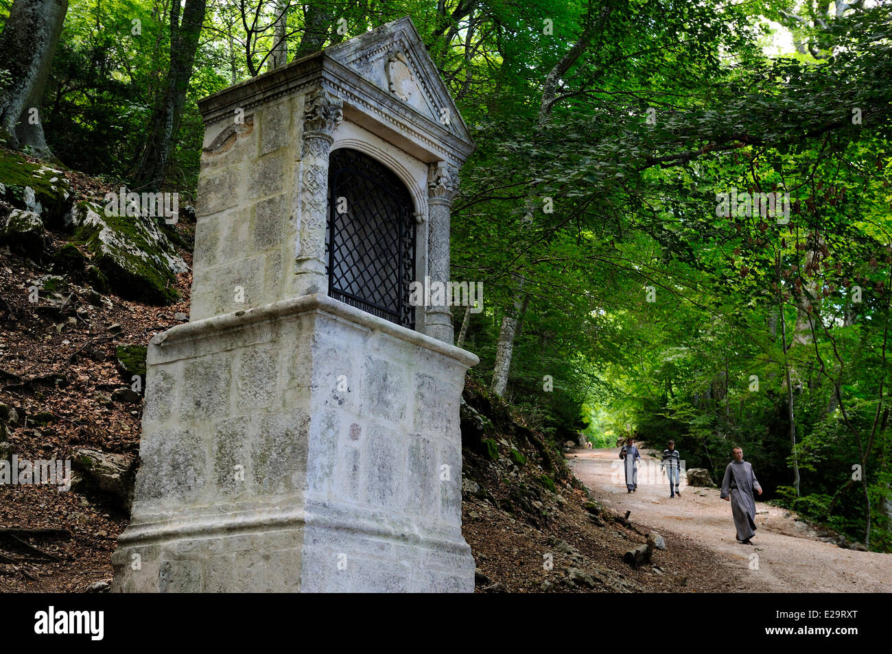 France, Var, Massif de la Sainte Baume, sanctuary of St Mary Magdalene - Stock Image