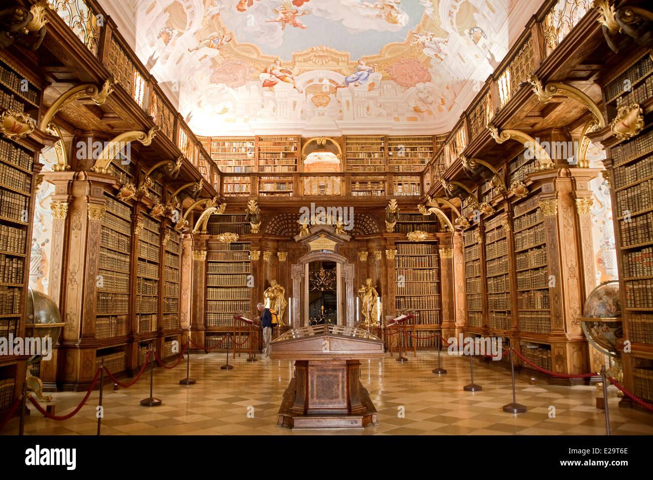 Melk Abbey Library Stock Photos  Melk Abbey Library Stock-4457