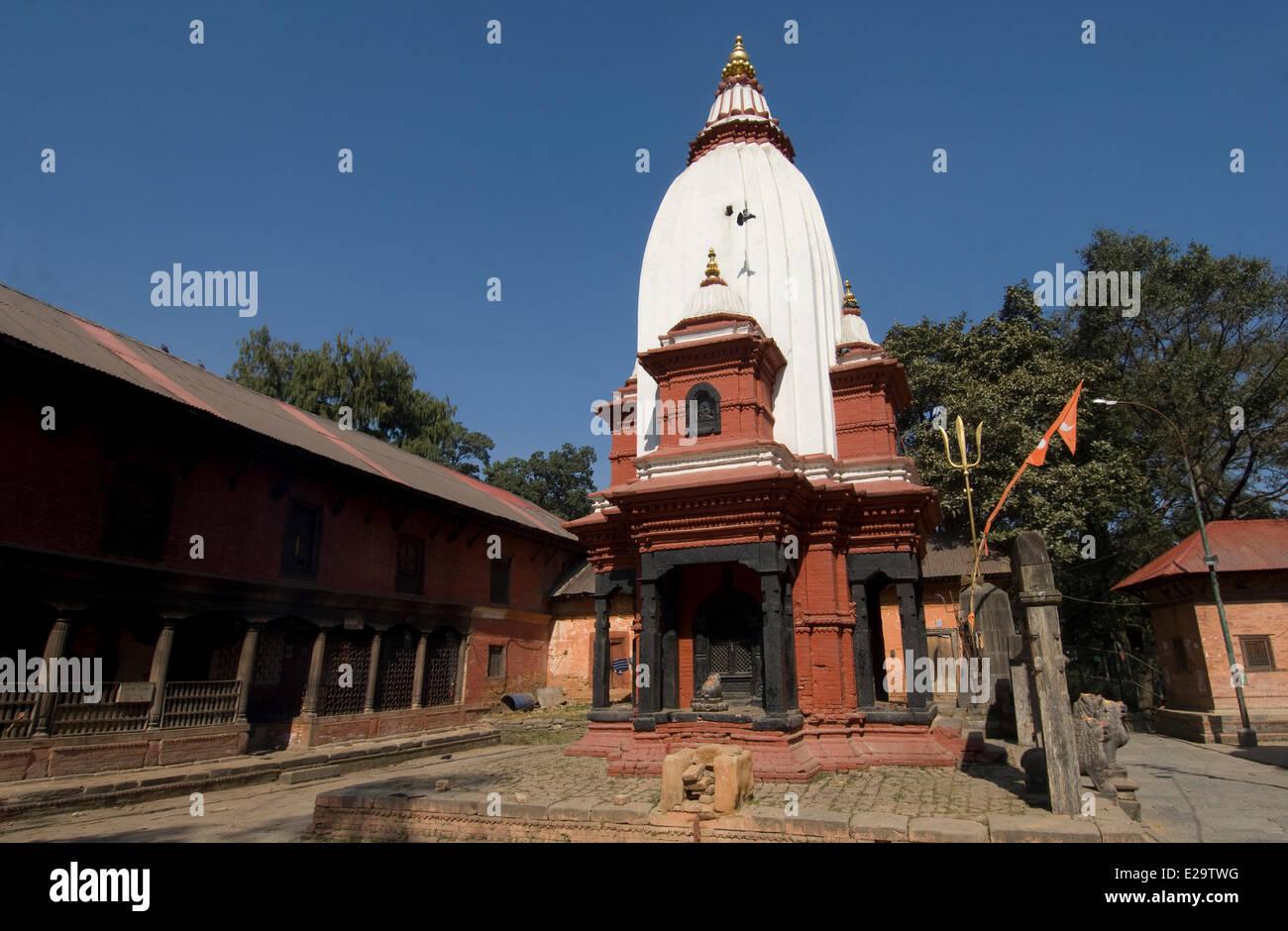 Nepal, Kathmandu Valley, listed World Heritage by UNESCO, Kathmandu, hinduist necropolis and cremation ghats of - Stock Image