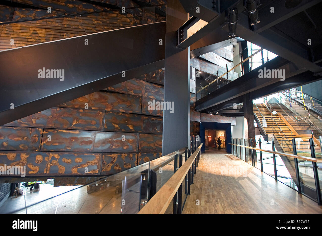 United Kingdom, Northern Ireland, Belfast, the Titanic Belfast museum - Stock Image