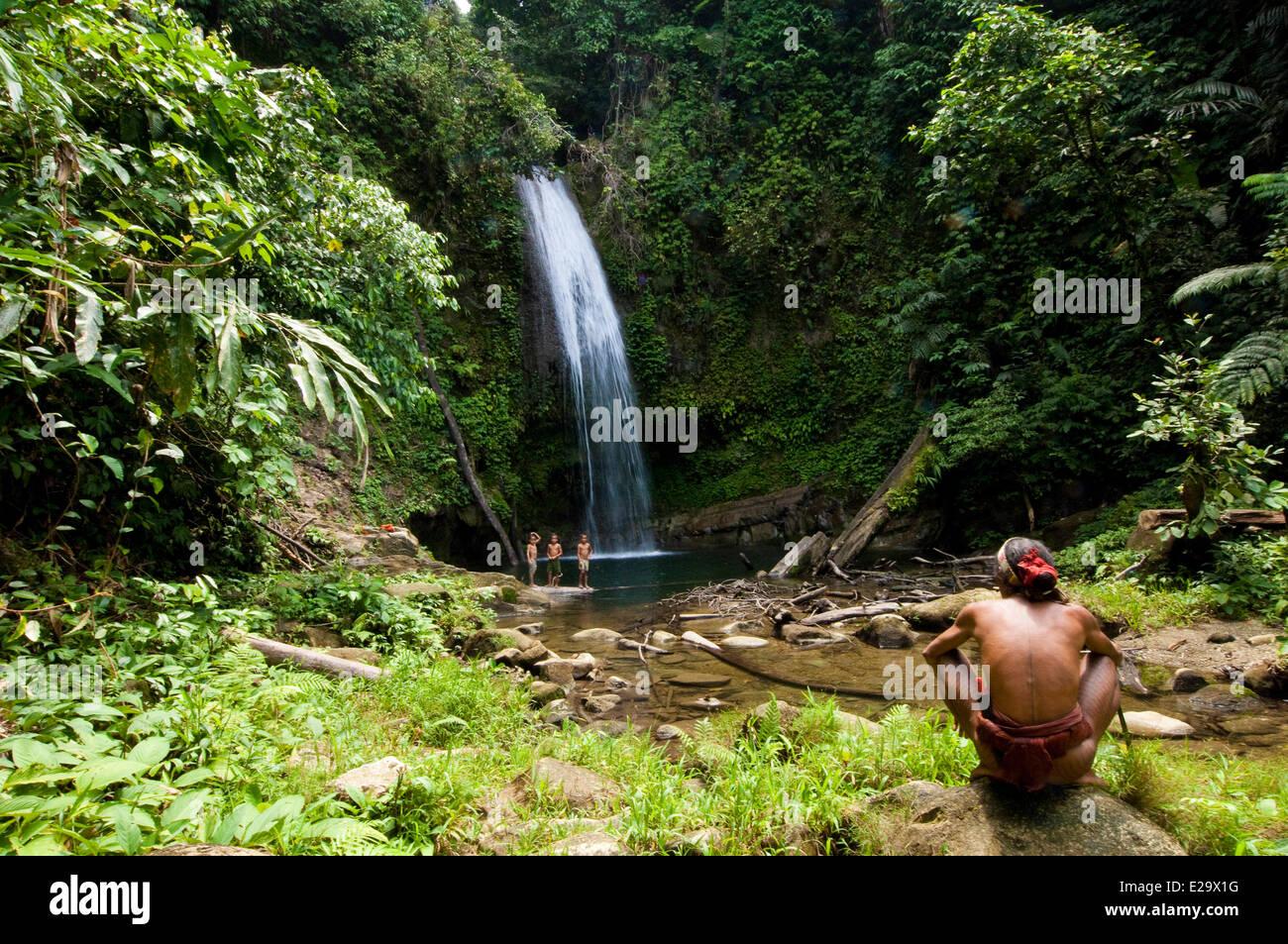 Indonesia, Sumatra, Siberut, with the Mentawai, or Flower People - Stock Image