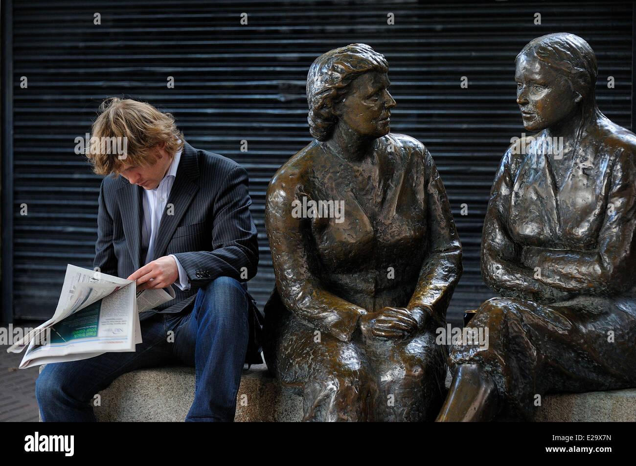 Ireland, Dublin, Lower Liffey Street - Stock Image