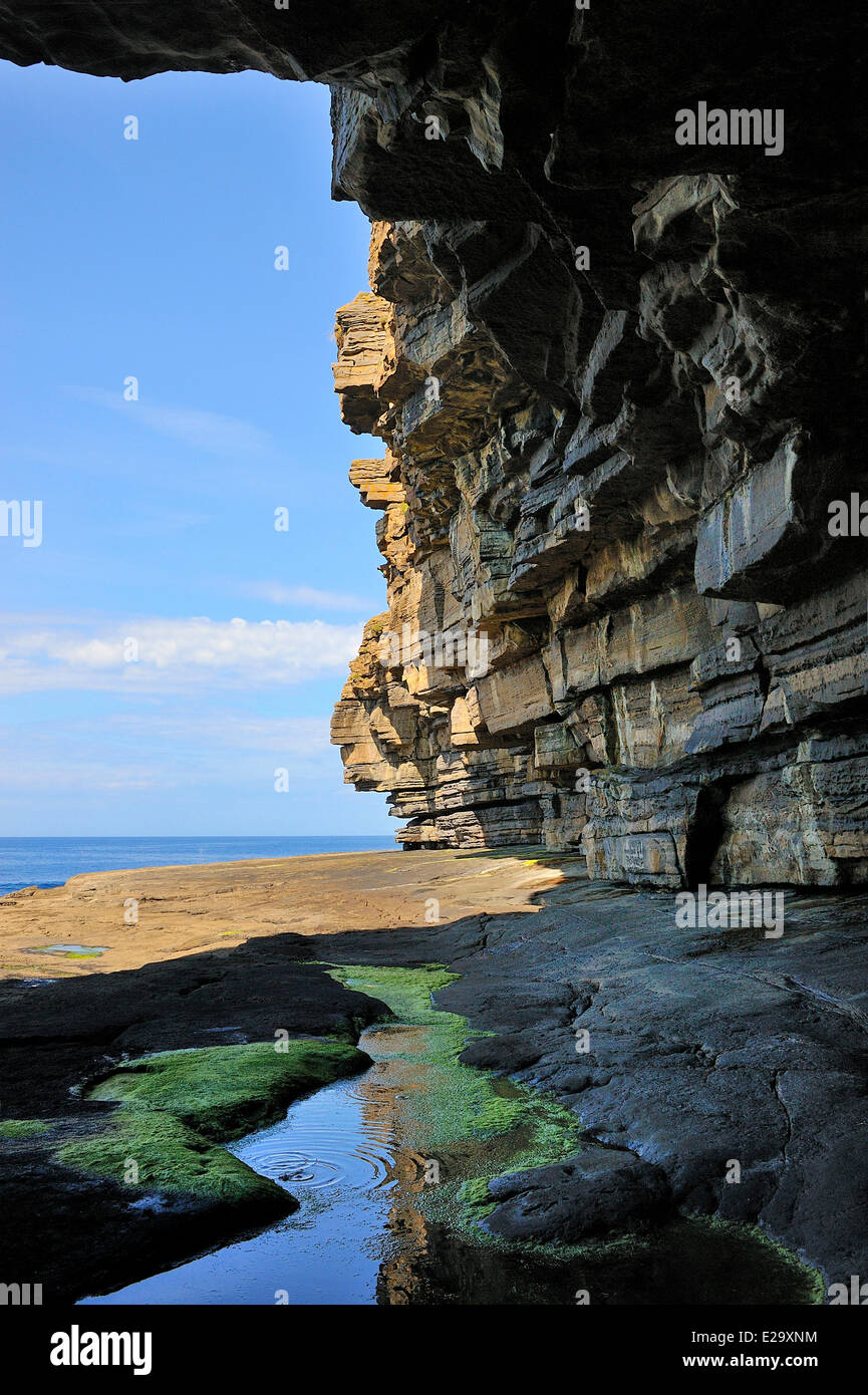 Ireland, County Donegal, Muckross Head cliffs - Stock Image