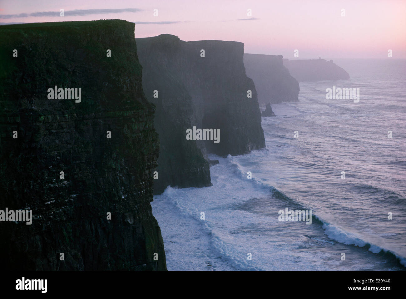 Ireland, County Clare, Cliffs of Moher - Stock Image