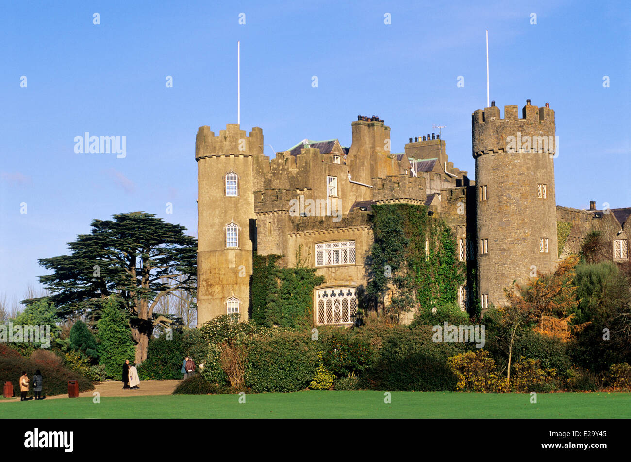 Ireland, County Dublin, Malahide castle - Stock Image