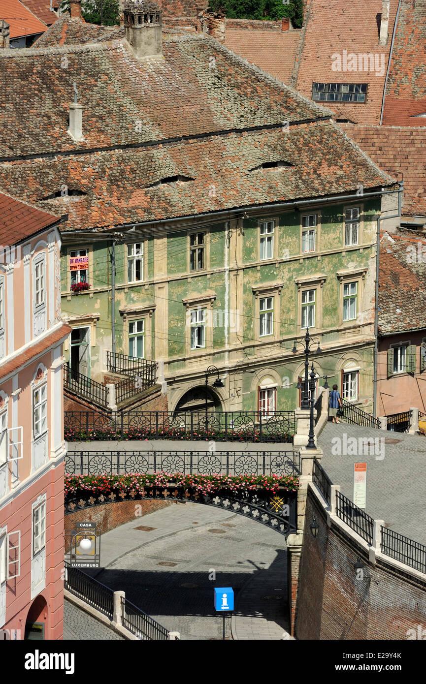 Romania, Transylvania, Carpathian Mountains, Sibiu, the old town - Stock Image
