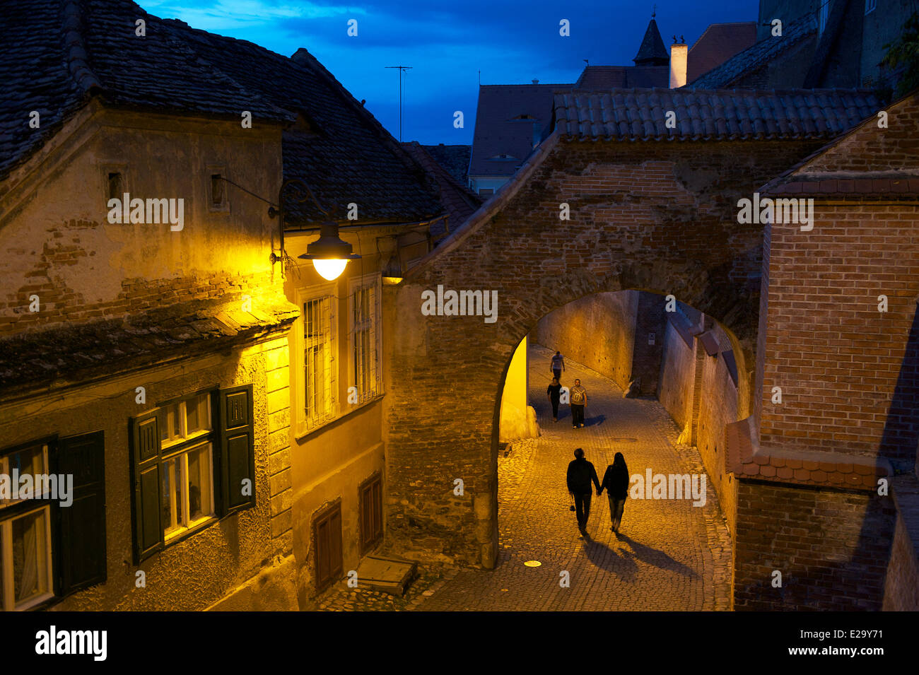 Romania, Transylvania, Carpathian Mountains, Sibiu, the old town - Stock Image