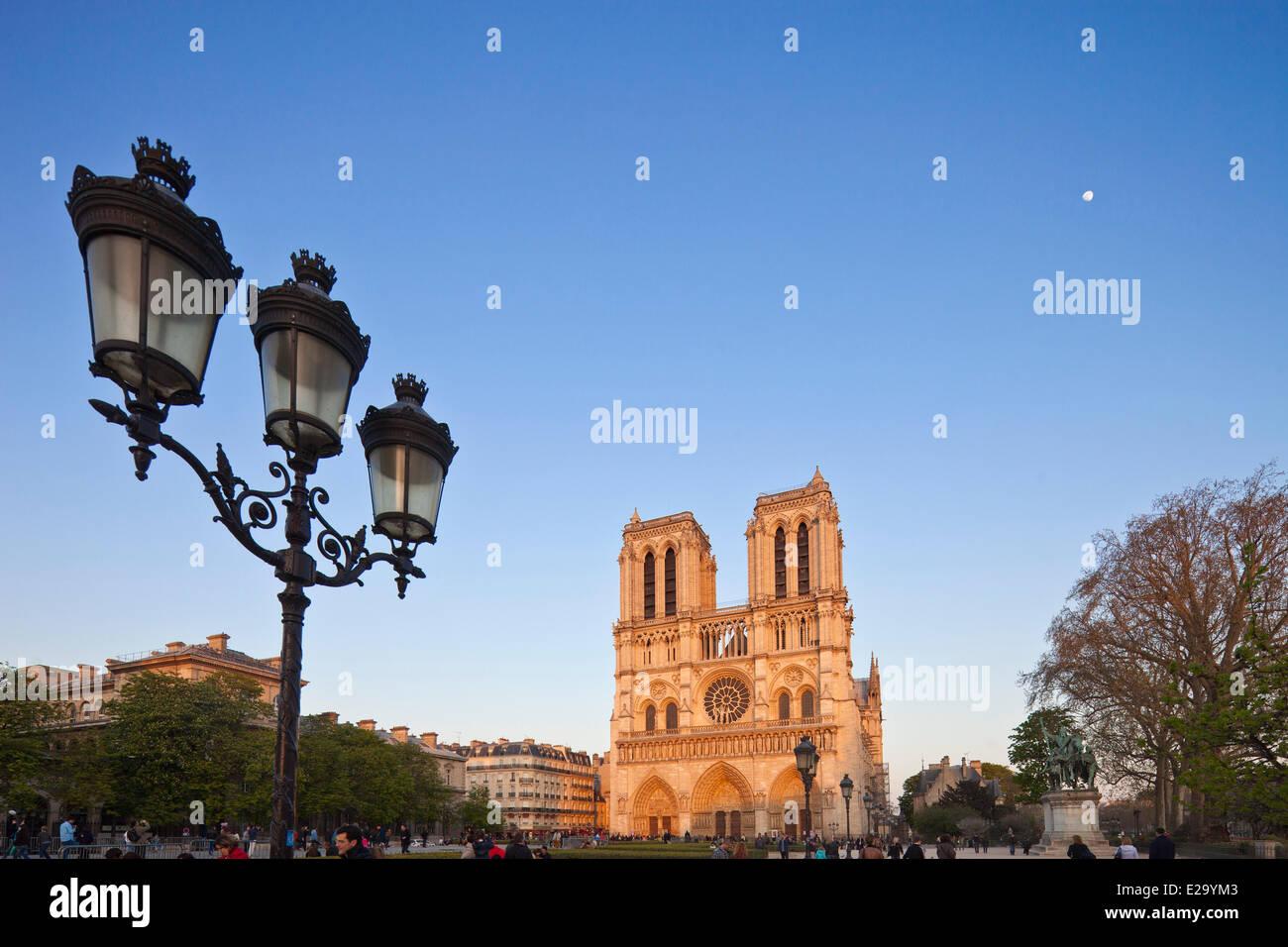 France, Paris, Notre Dame de Paris cathedral - Stock Image