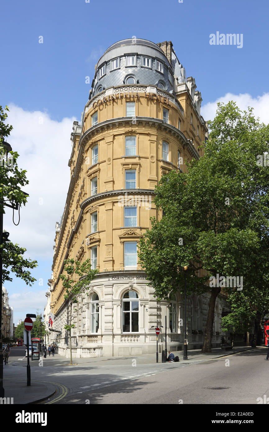 The Corinthia Hotel, on Whitehall Place, London. A 5 star ...