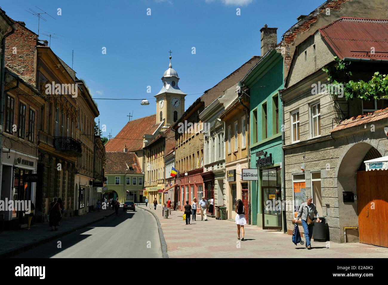 Romania, Transylvania, Brasov, strada Michael Weiss - Stock Image