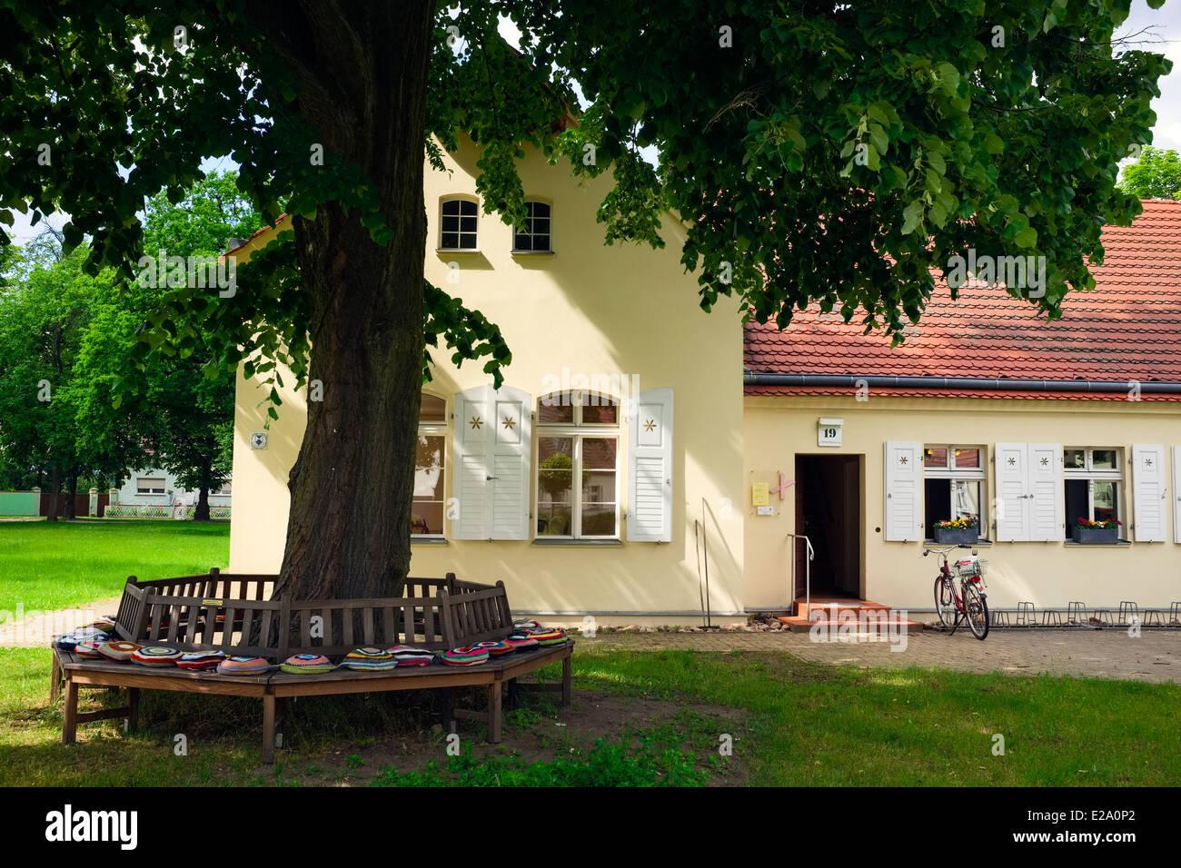 Community center, Saalow, Brandenburg, Germany - Stock Image